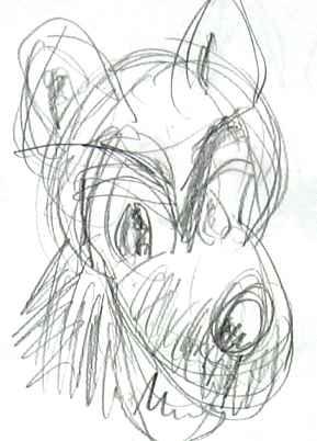 einen wolf zeichnen